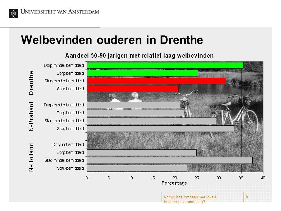Welbevinden ouderen in Drenthe 8Krimp: hoe omgaan met lokale bevolkingsverandering?