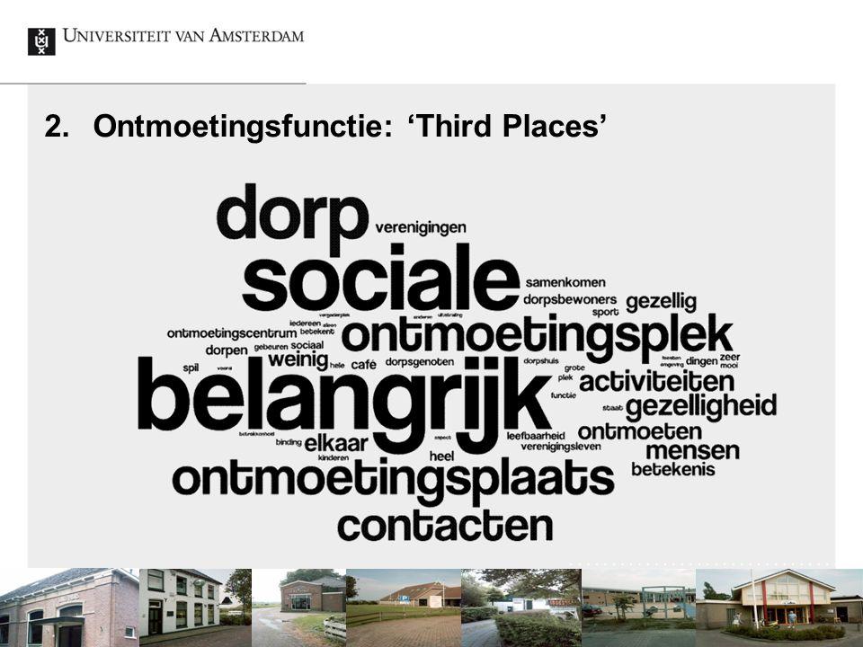 2.Ontmoetingsfunctie: 'Third Places' Lokale voorzieningen: voorwaarde of resultaat van leefbare en vitale dorpen? 18