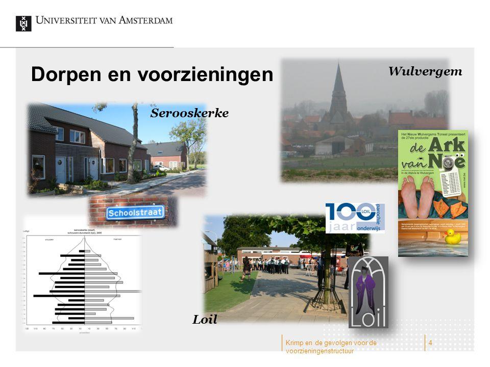 Dorpen en voorzieningen Wulvergem Serooskerke Loil 4Krimp en de gevolgen voor de voorzieningenstructuur