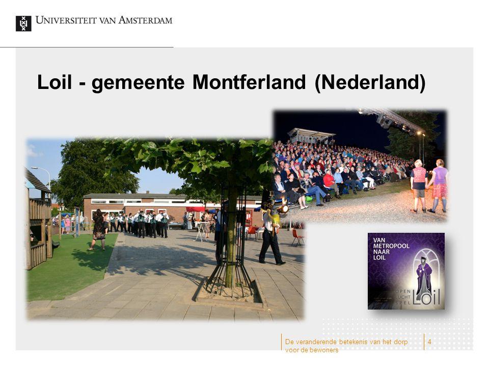 De veranderende betekenis van het dorp voor de bewoners Wulvergem - gemeente Heuvelland (Vlaanderen) 5