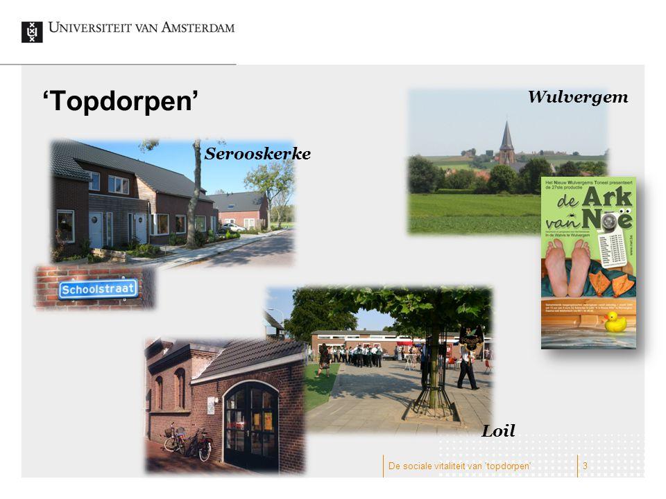 'Topdorpen' Wulvergem Serooskerke Loil 3De sociale vitaliteit van topdorpen