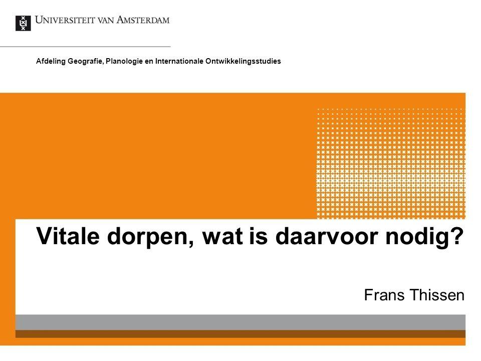 Frans Thissen Afdeling Geografie, Planologie en Internationale Ontwikkelingsstudies