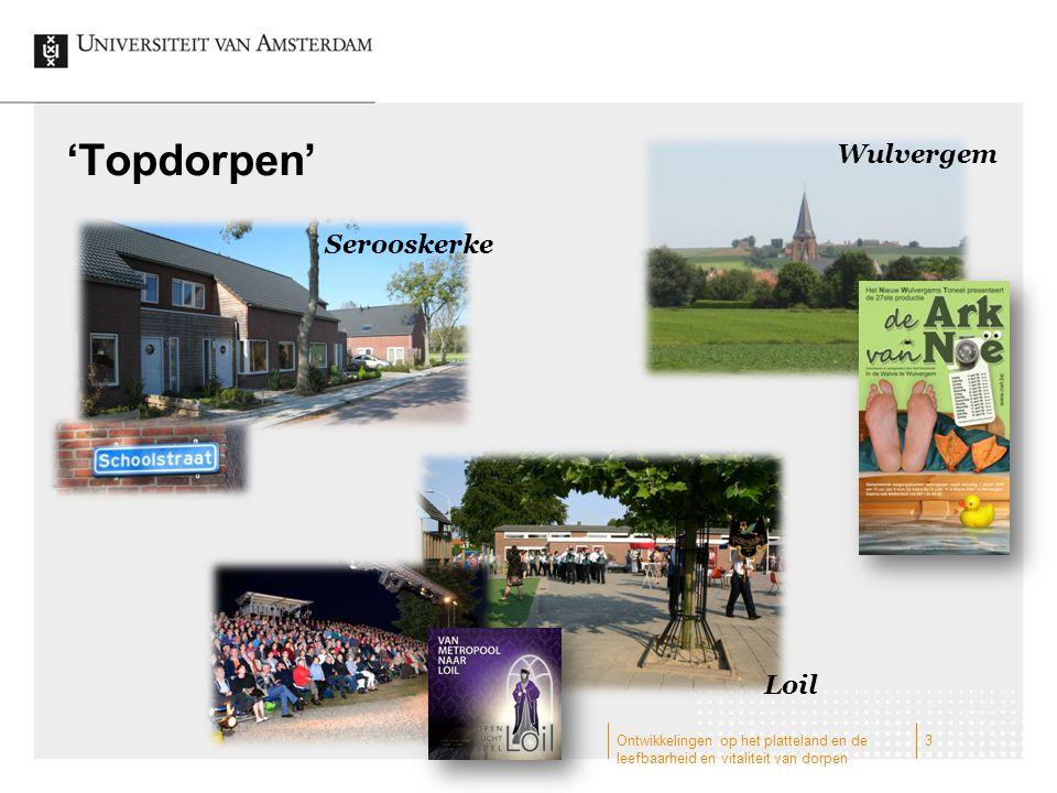 'Topdorpen' Wulvergem Serooskerke Loil 3Ontwikkelingen op het platteland en de leefbaarheid en vitaliteit van dorpen