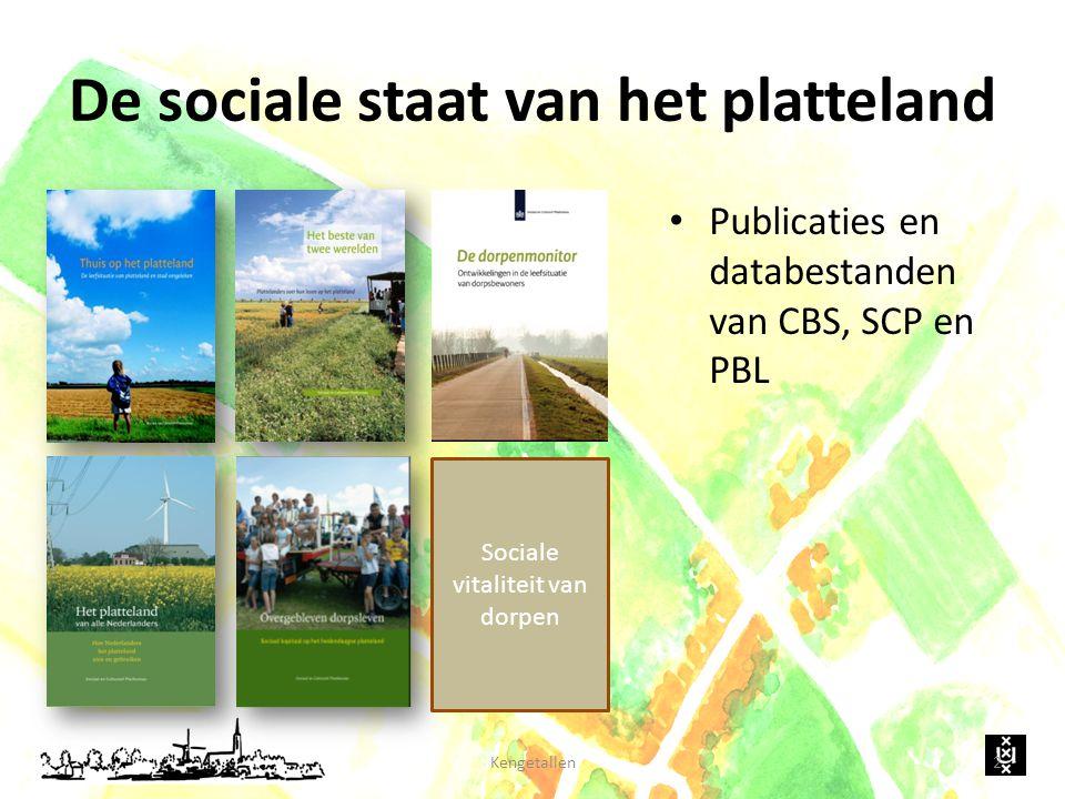 De sociale staat van het platteland Publicaties en databestanden van CBS, SCP en PBL Kengetallen2 Sociale vitaliteit van dorpen