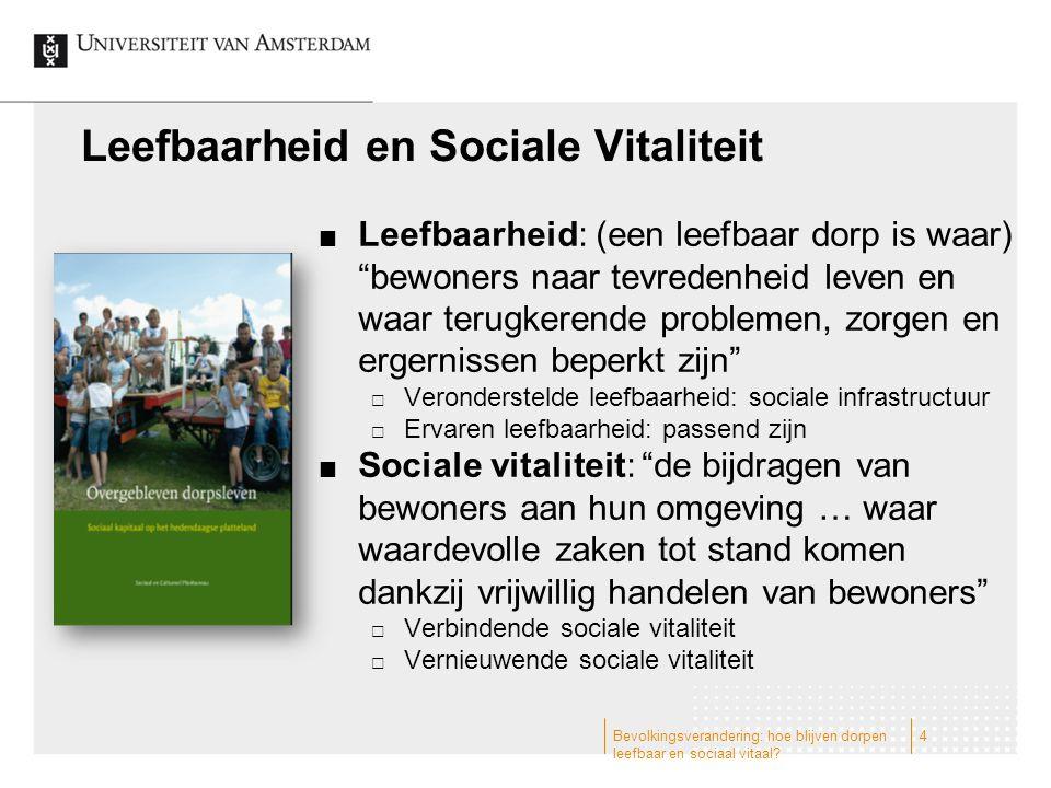 Bevolkingsverandering: hoe blijven dorpen leefbaar en sociaal vitaal.