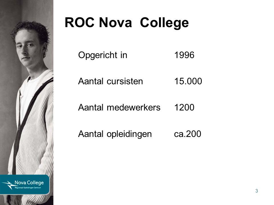 ROC Nova College Drie regio's: Noord – hoofdlocatie Beverwijk Midden – hoofdlocatie Haarlem Zuid – hoofdlocatie Hoofddorp 4 25 juni 2012