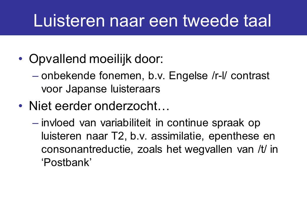 Maar wat als… … een reductieproces in de T2 ook voorkomt in de moedertaal (T1).