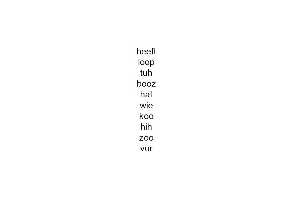 heeft loop tuh booz hat wie koo hih zoo vur