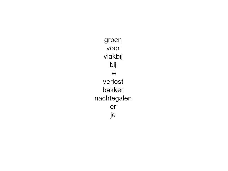 groen voor vlakbij bij te verlost bakker nachtegalen er je