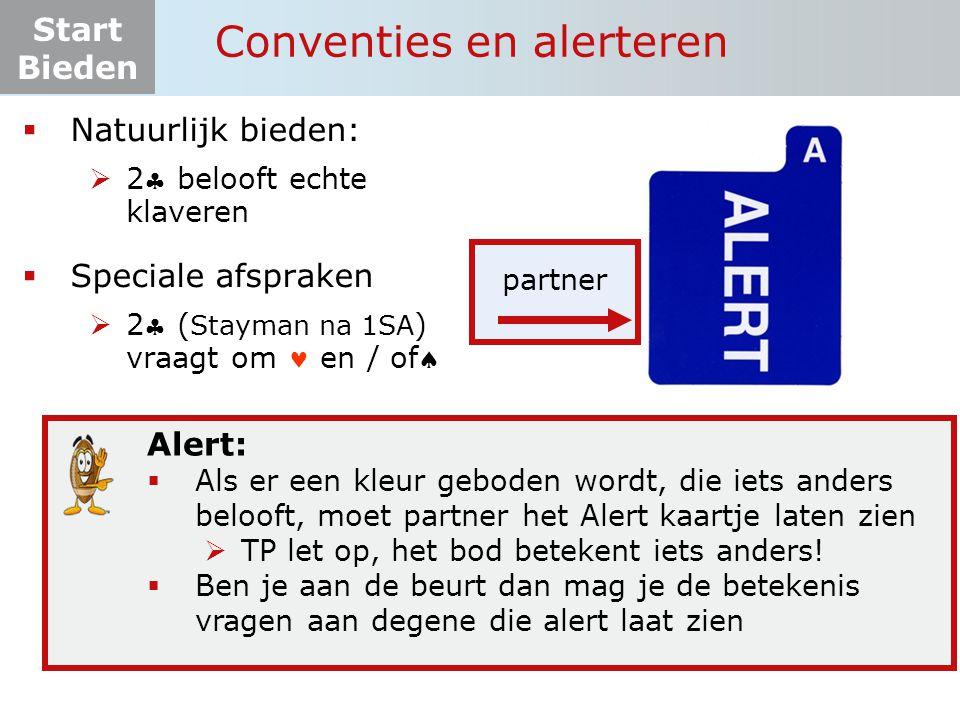 Start Bieden Tafelopdracht 8.1-1 punten Kans op of  fit 11 Ja  8+ pnt  4 krt en/of  NOZuid    1SApas.