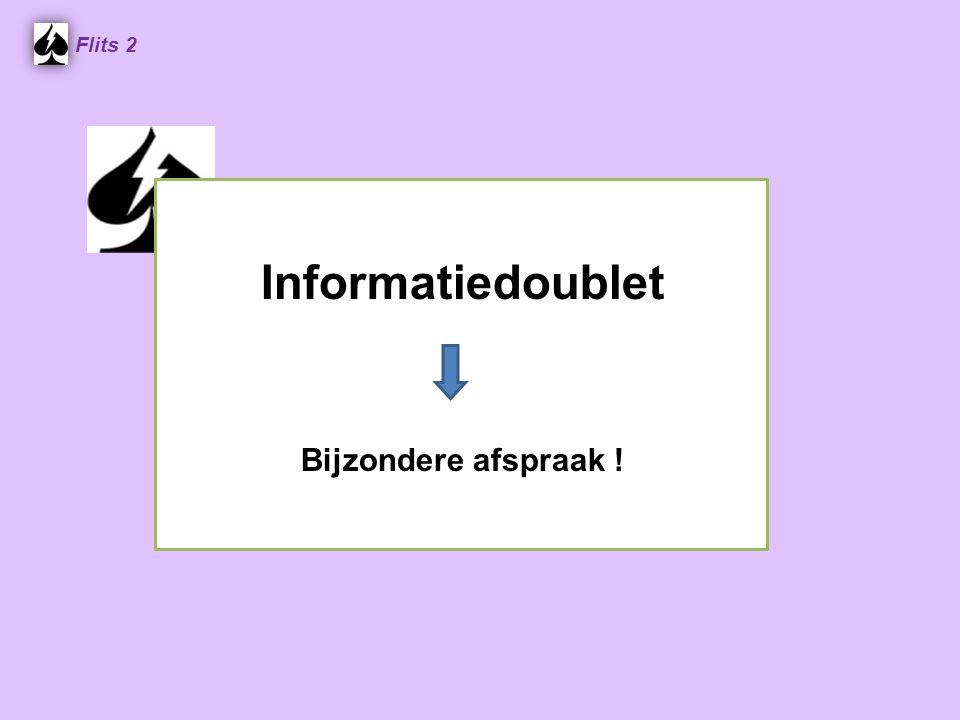 Informatiedoublet Bijzondere afspraak ! Flits 2