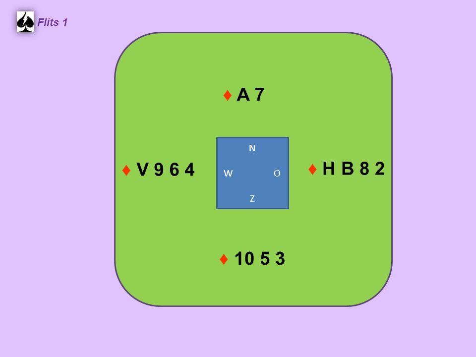 Flits 1 ♦ H B 8 2 ♦ V 9 6 4 N W O Z ♦ A 7 ♦ 10 5 3