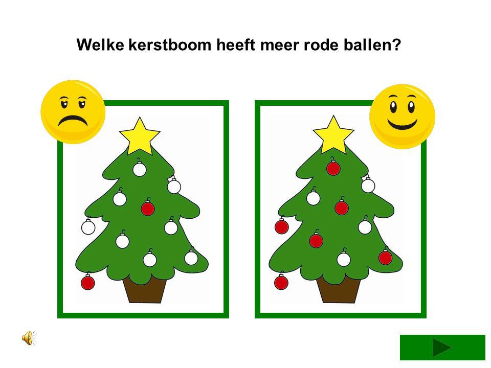 Welke kerstboom heeft de meeste paarse ballen?