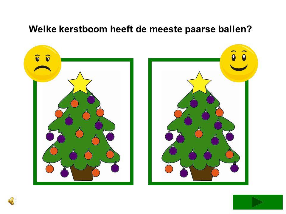Welke kerstboom heeft de meeste oranje ballen?