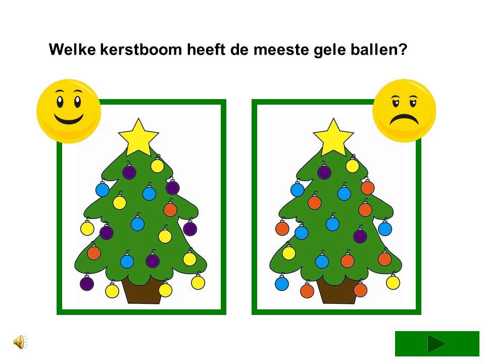 Welke kerstboom heeft de minste blauwe ballen?