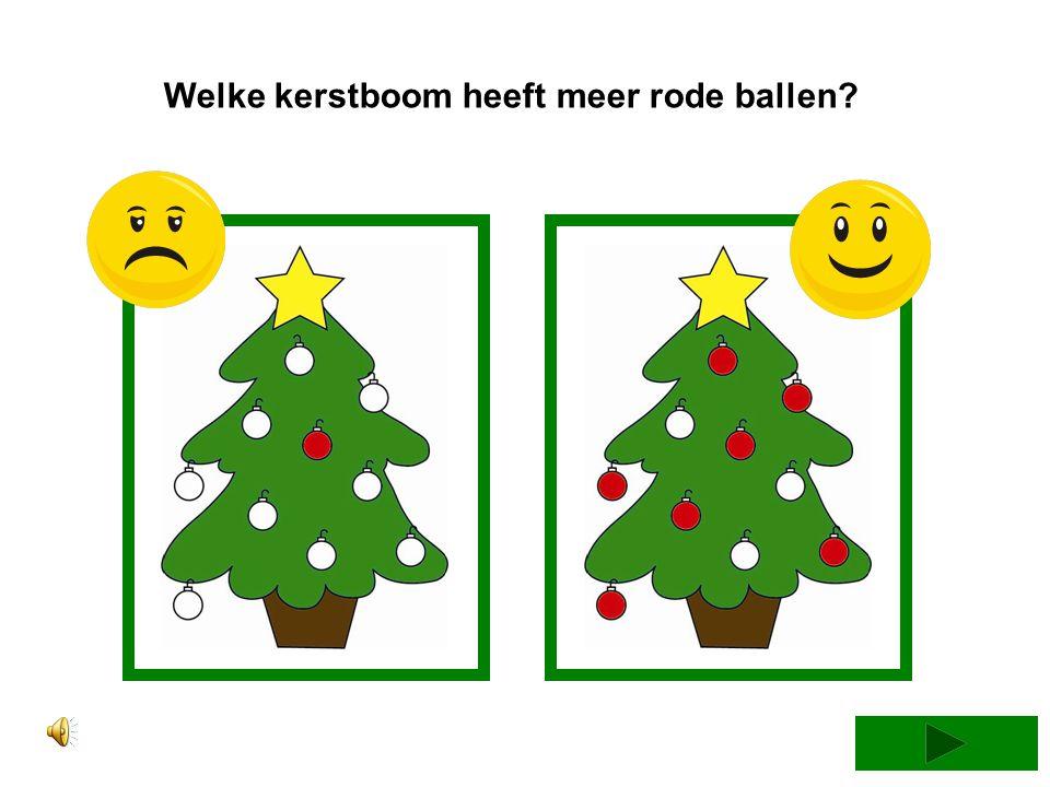 Welke kerstboom heeft minder rode ballen?