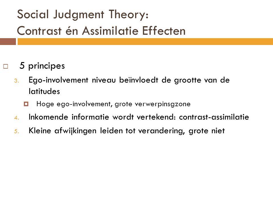 Interpretatie van de eindpunten  Fishbach & Dhar (2005) Studie 2: interesse in niet – academische activiteiten