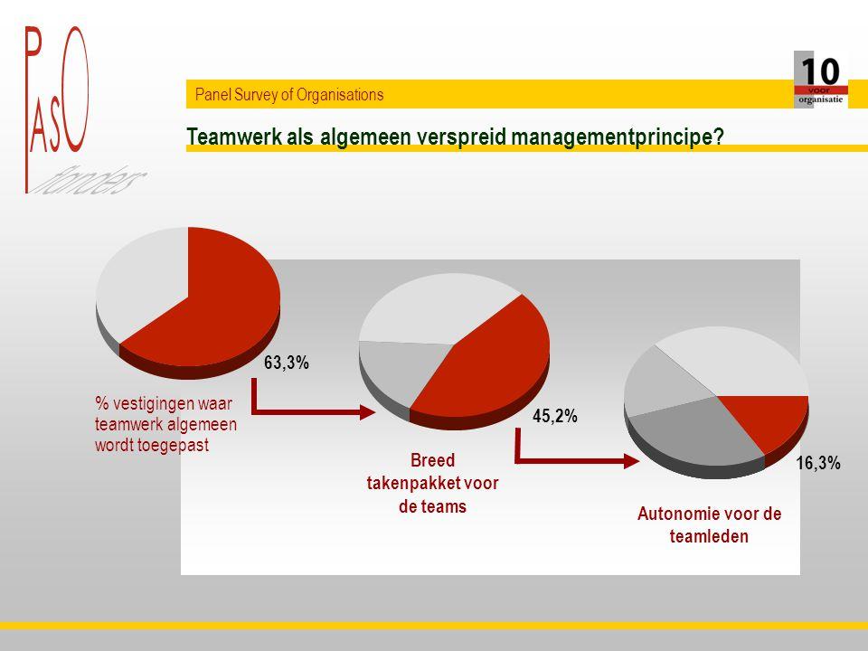 16,3% Teamwerk als algemeen verspreid managementprincipe.