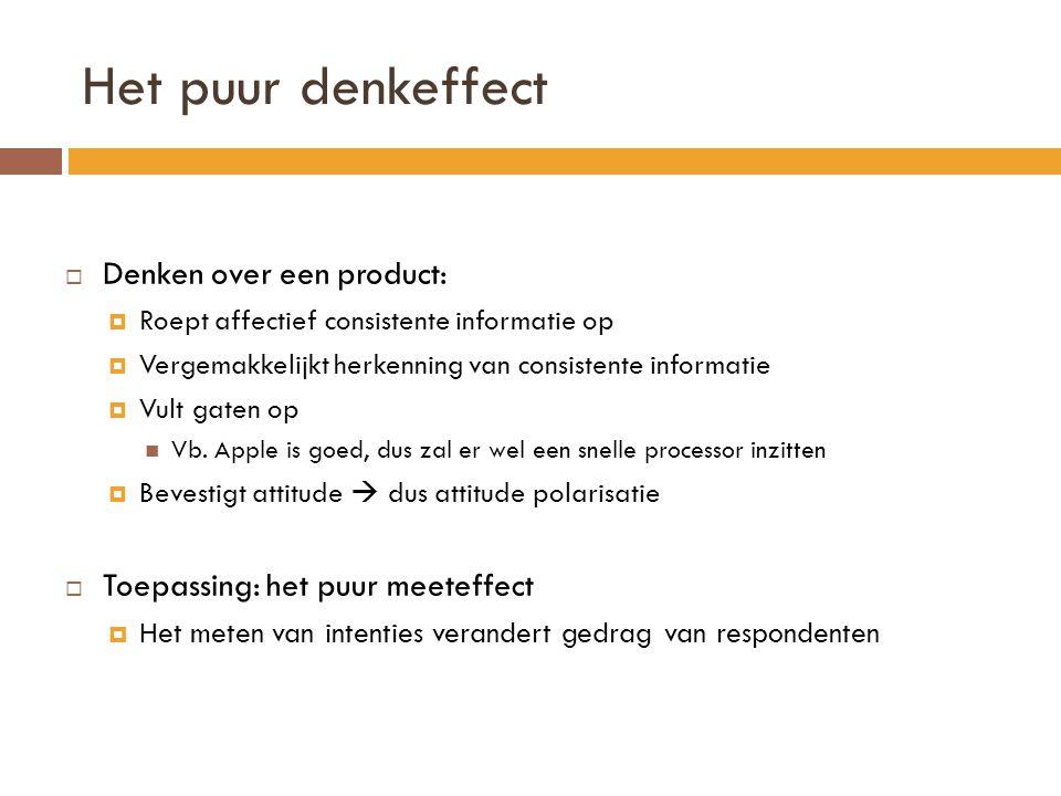 Indirecte overtuiging  Het argument bevat hiaten  Toehoorder vult zelf hiaten in  Attitude is positiever  Consument gelooft meer in zichzelf dan in adverteerder  Vb: syllogistische inferentie regel  Als A dan B, als B dan C; DUS: als A dan C  Bvb.