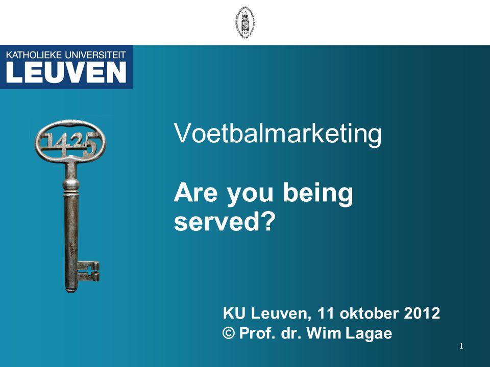 Wim Lagae Hoofddocent sportmarketing Lessius Antwerpen Deeltijd-hoofddocent sportmarketing K.U.Leuven (FaBeR) www.sportmarketingcommunicatie.com