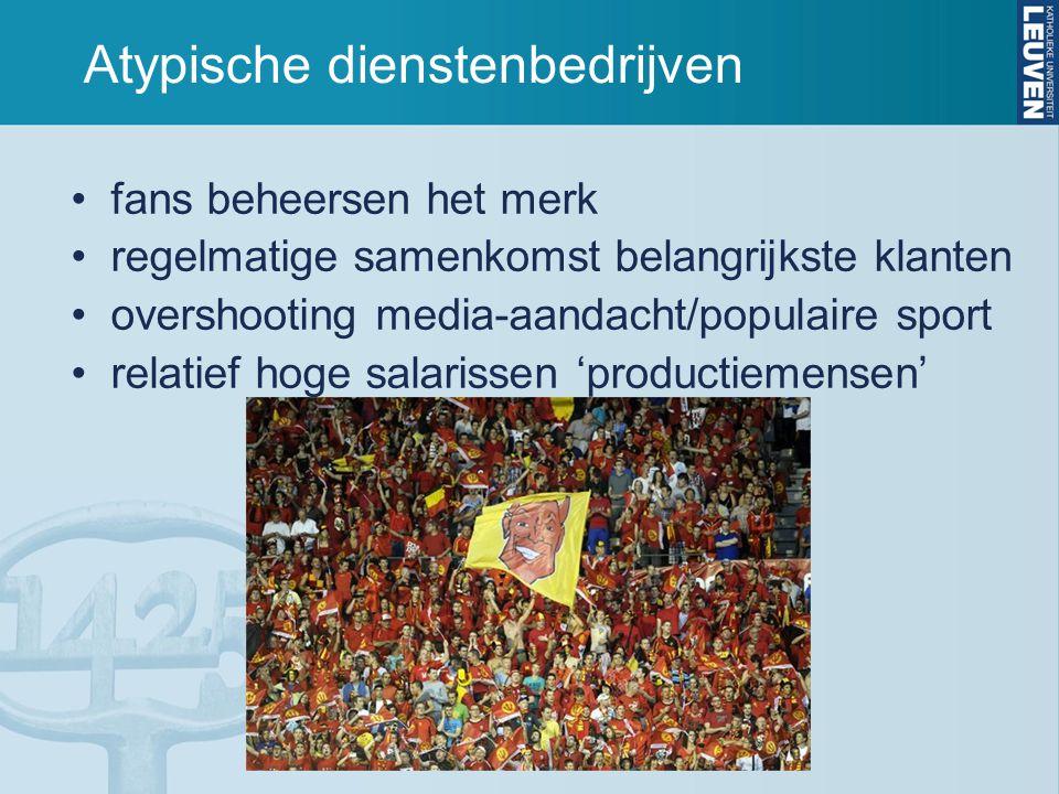 Atypische dienstenbedrijven liga organiseert competitie ingewikkeld netwerk stakeholders afhankelijkheid vrijwilligers voetbalstadion