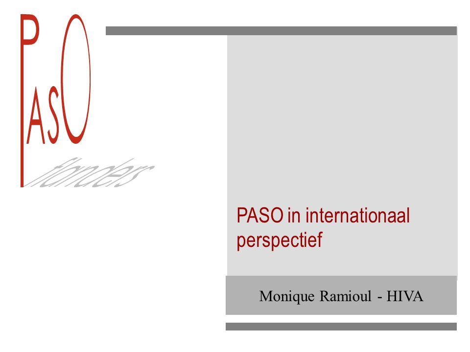 PASO geëvalueerd vanuit bevindingen STILE STILE: Statistics and Indicators on the Labour market in the e-Economy ICT and Organisation Surveys: IAB, OSA, Dep.
