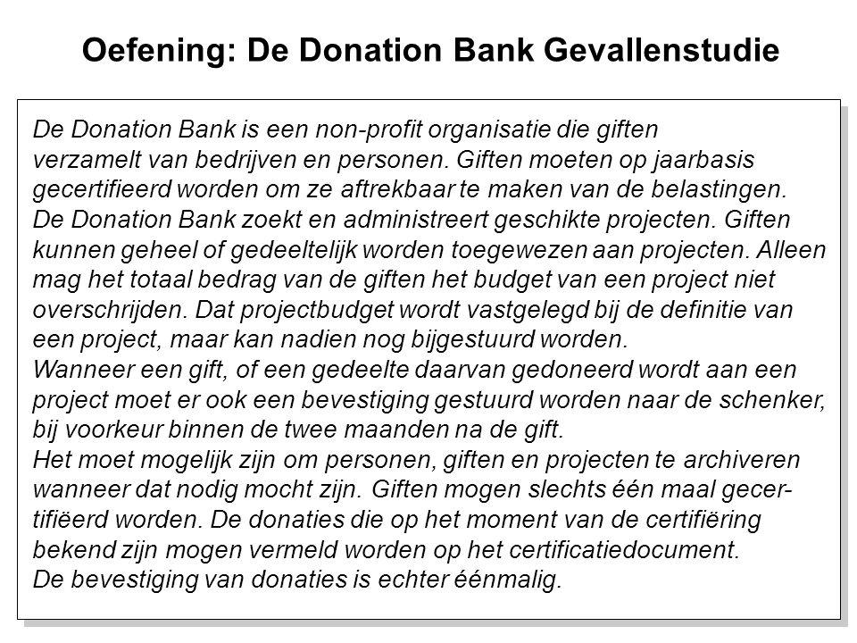 33 De Donation Bank is een non-profit organisatie die giften verzamelt van bedrijven en personen. Giften moeten op jaarbasis gecertifieerd worden om z