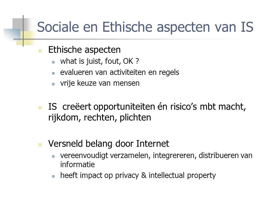 Sociale en Ethische aspecten van IS Ethische aspecten what is juist, fout, OK .