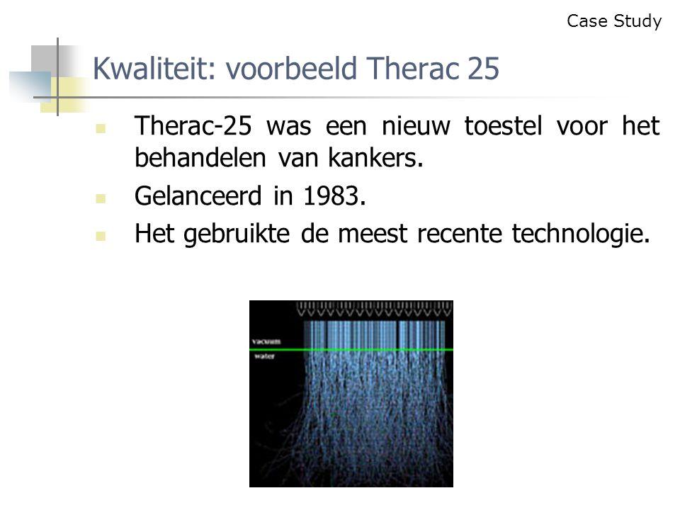 Therac-25 was een nieuw toestel voor het behandelen van kankers.