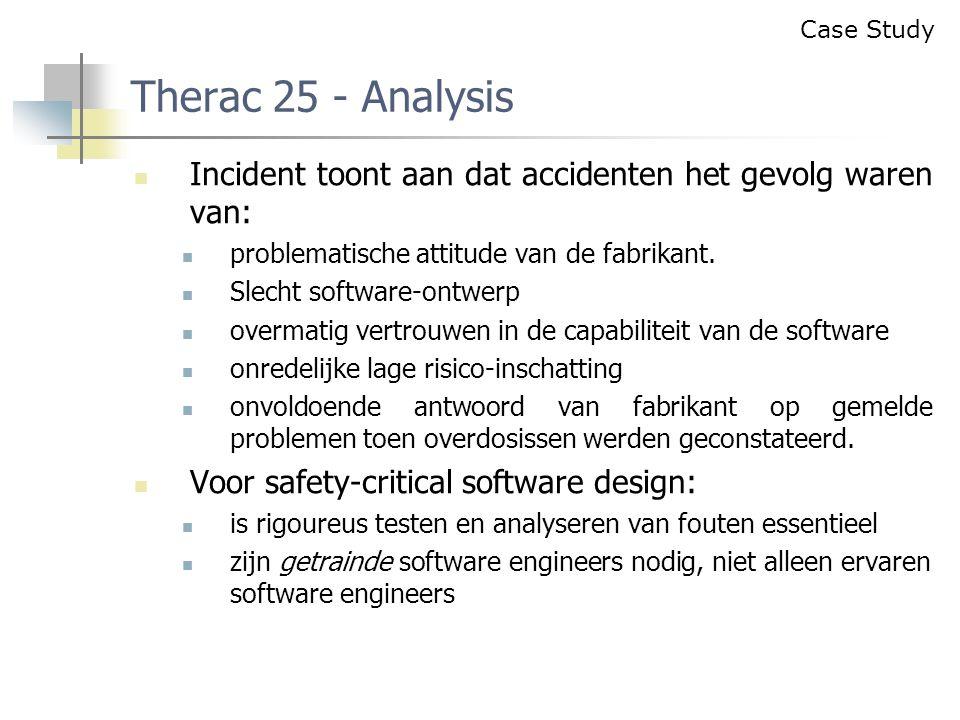 Incident toont aan dat accidenten het gevolg waren van: problematische attitude van de fabrikant.