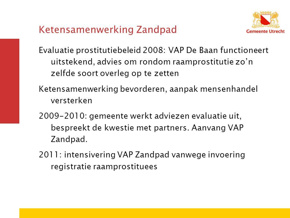 Ketensamenwerking Zandpad Evaluatie prostitutiebeleid 2008: VAP De Baan functioneert uitstekend, advies om rondom raamprostitutie zo'n zelfde soort ov