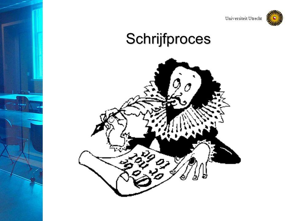 Universiteit Utrecht Schrijfproces