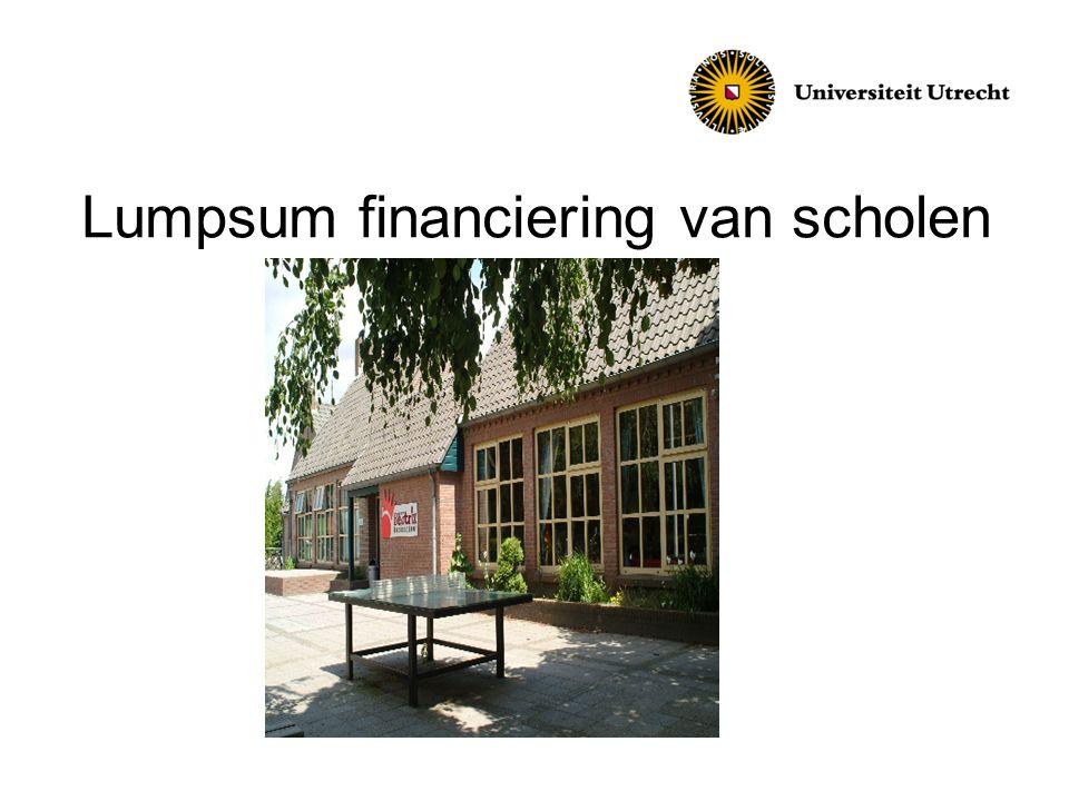 Lumpsum financiering van scholen