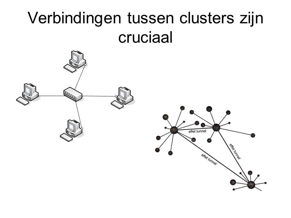 Verbindingen tussen clusters zijn cruciaal