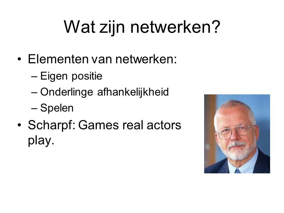 Wat zijn netwerken.