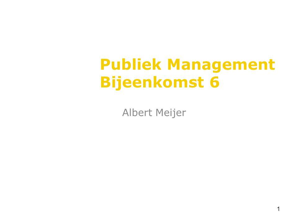 1 Publiek Management Bijeenkomst 6 Albert Meijer