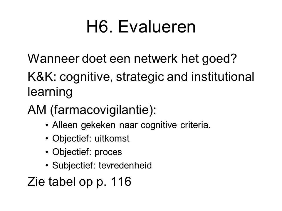 H6. Evalueren Wanneer doet een netwerk het goed.