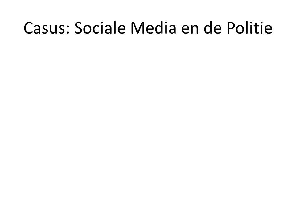Casus: Sociale Media en de Politie