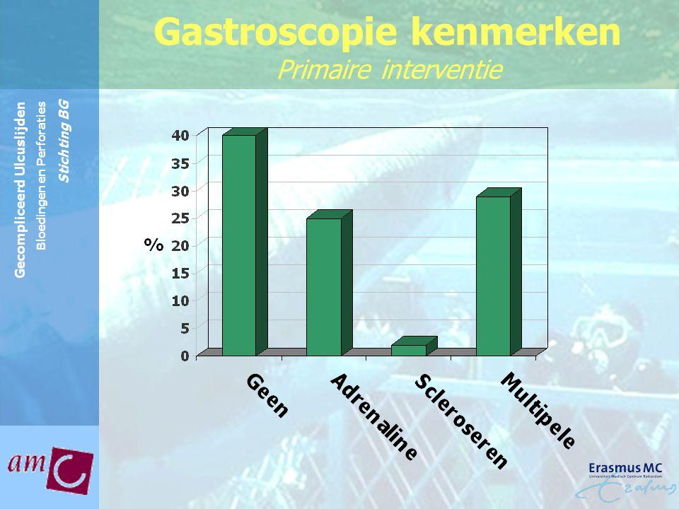 Reinier de Graaf Groep Gecompliceerd Ulcuslijden Bloedingen en Perforaties Stichting BG Gastroscopie kenmerken Primaire interventie