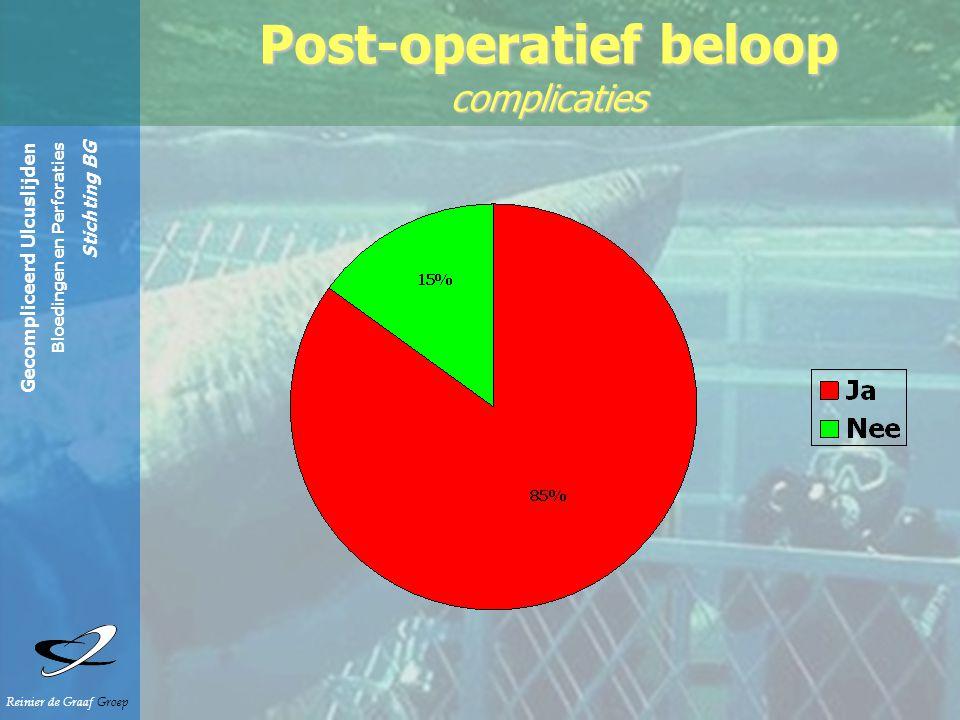 Gecompliceerd Ulcuslijden Bloedingen en Perforaties Stichting BG Reinier de Graaf Groep Post-operatief beloop complicaties