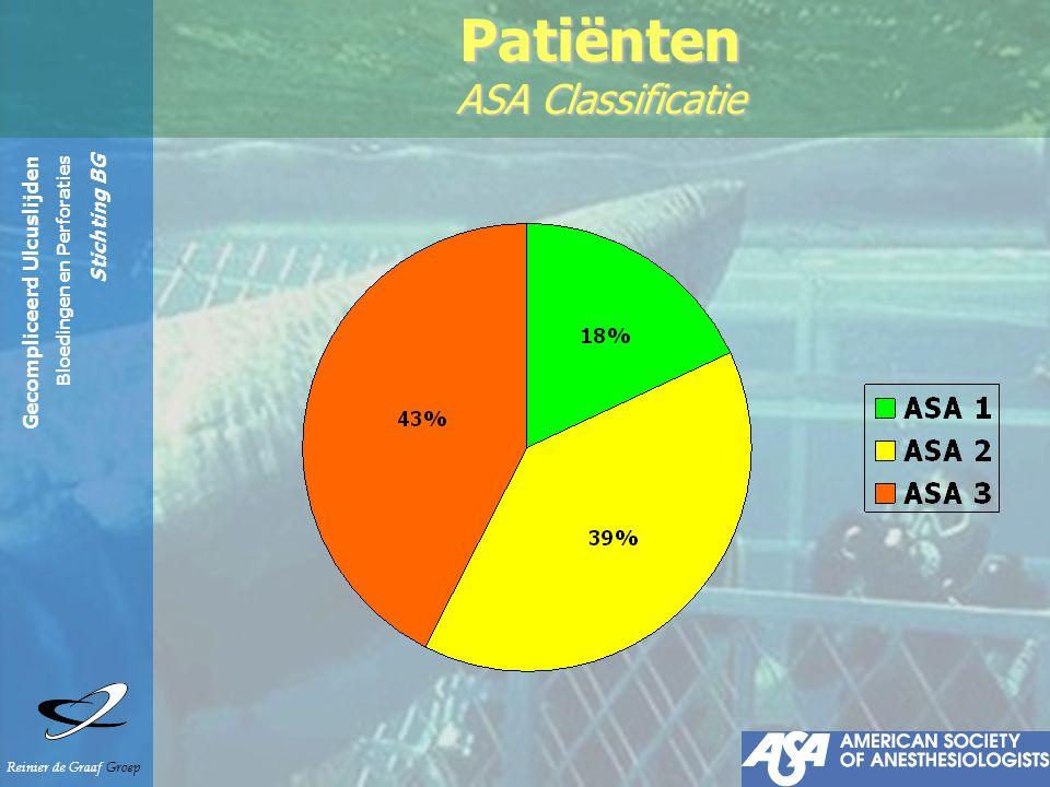 Gecompliceerd Ulcuslijden Bloedingen en Perforaties Stichting BG Reinier de Graaf Groep Patiënten ASA Classificatie