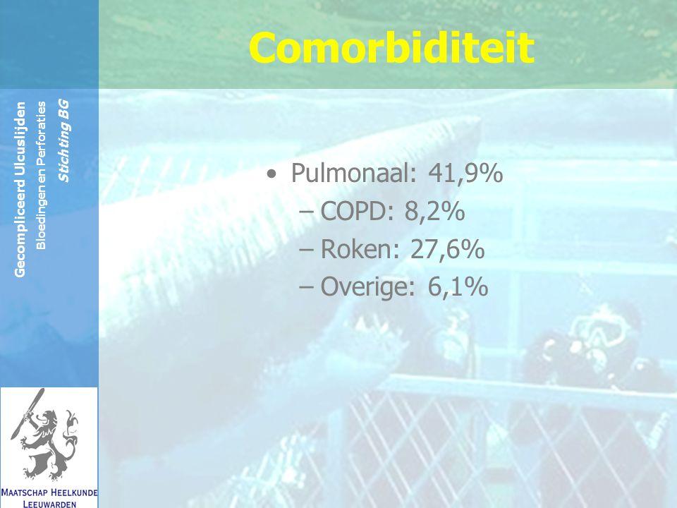 Reinier de Graaf Groep Gecompliceerd Ulcuslijden Bloedingen en Perforaties Stichting BG dialyse: 2% Rheuma: 4% Comorbiditeit