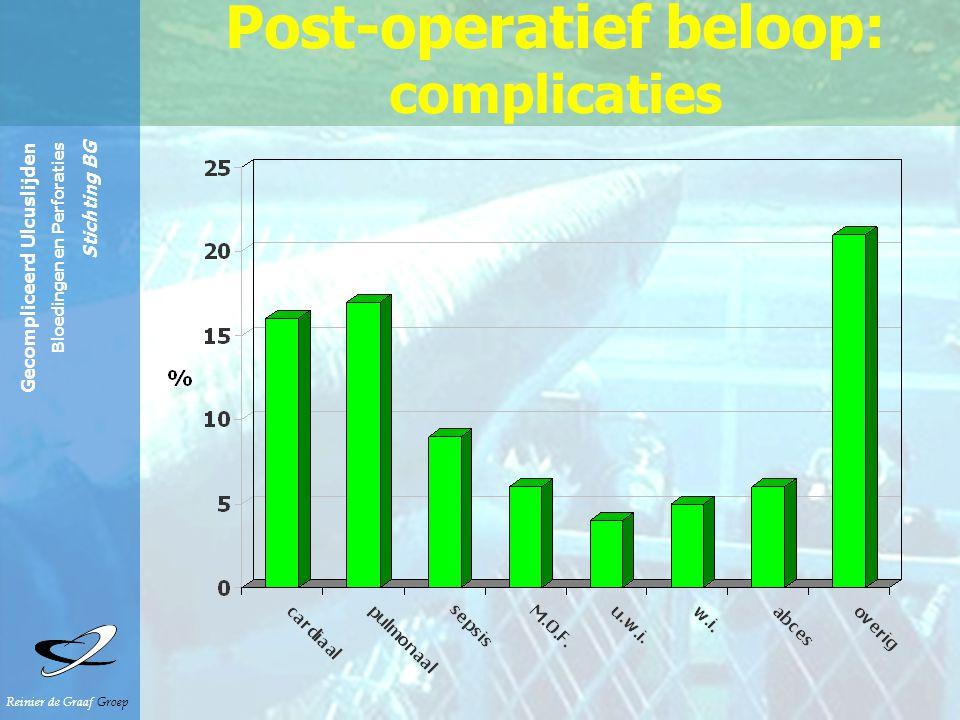 Reinier de Graaf Groep Gecompliceerd Ulcuslijden Bloedingen en Perforaties Stichting BG Post-operatief beloop: complicaties