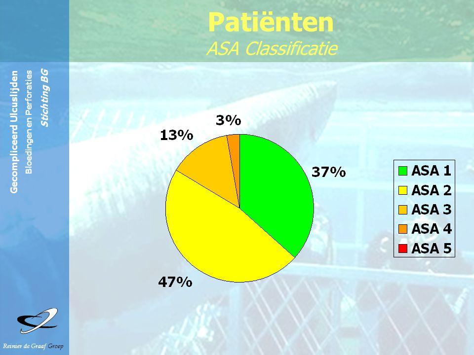 Reinier de Graaf Groep Gecompliceerd Ulcuslijden Bloedingen en Perforaties Stichting BG Voorgaande buikoperaties 23.7% VG ulcuslijden 13.4% Patiënten