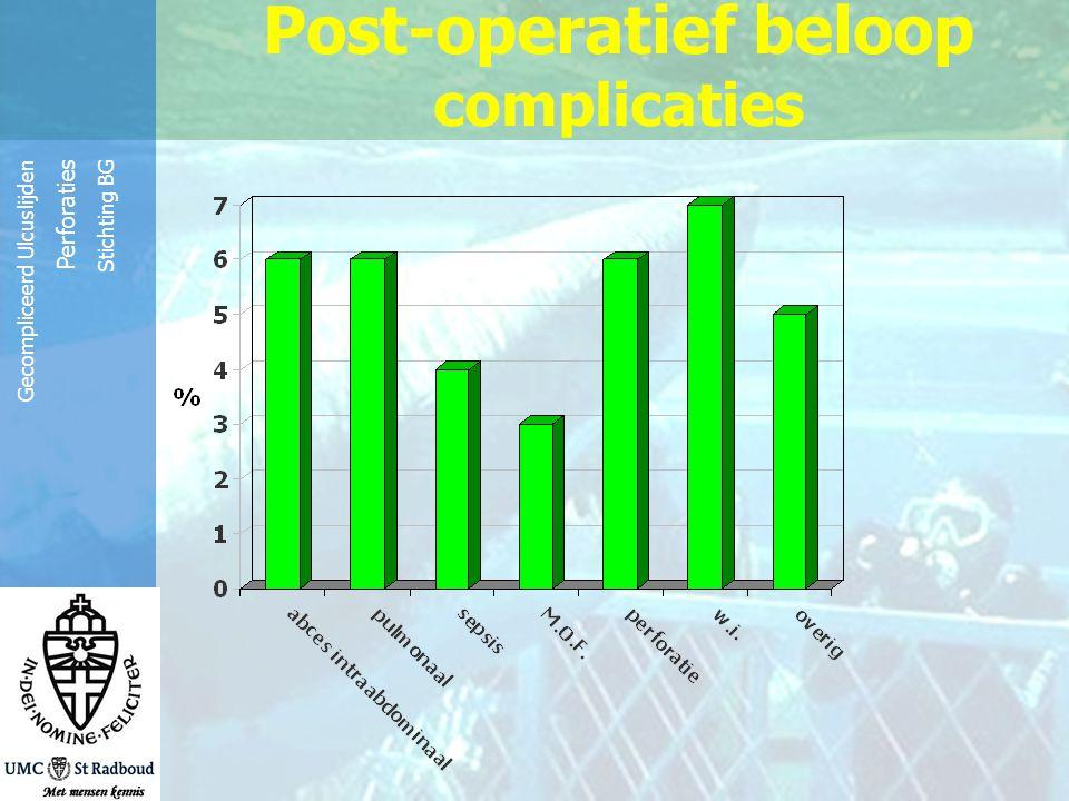 Reinier de Graaf Groep Gecompliceerd Ulcuslijden Perforaties Stichting BG Post-operatief beloop complicaties