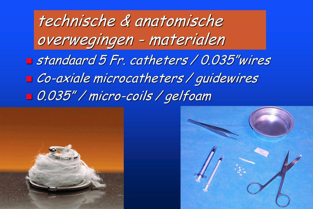 technische & anatomische overwegingen - materialen n standaard 5 Fr.