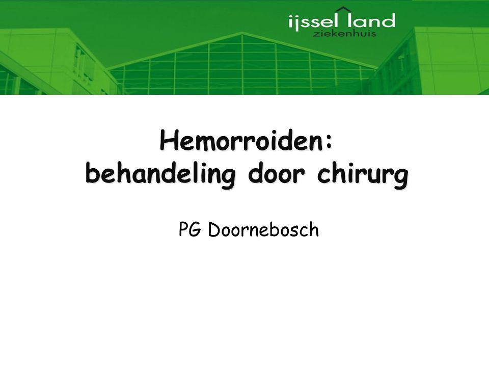Hemorroiden: behandeling door chirurg PG Doornebosch
