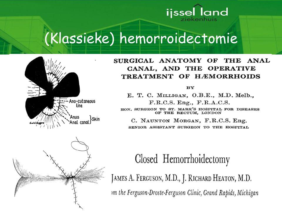 4 (Klassieke) hemorroidectomie