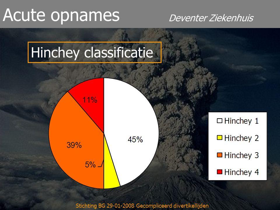 Deventer Ziekenhuis Acute opnames Stichting BG 29-01-2008 Gecompliceerd divertikellijden Hinchey classificatie