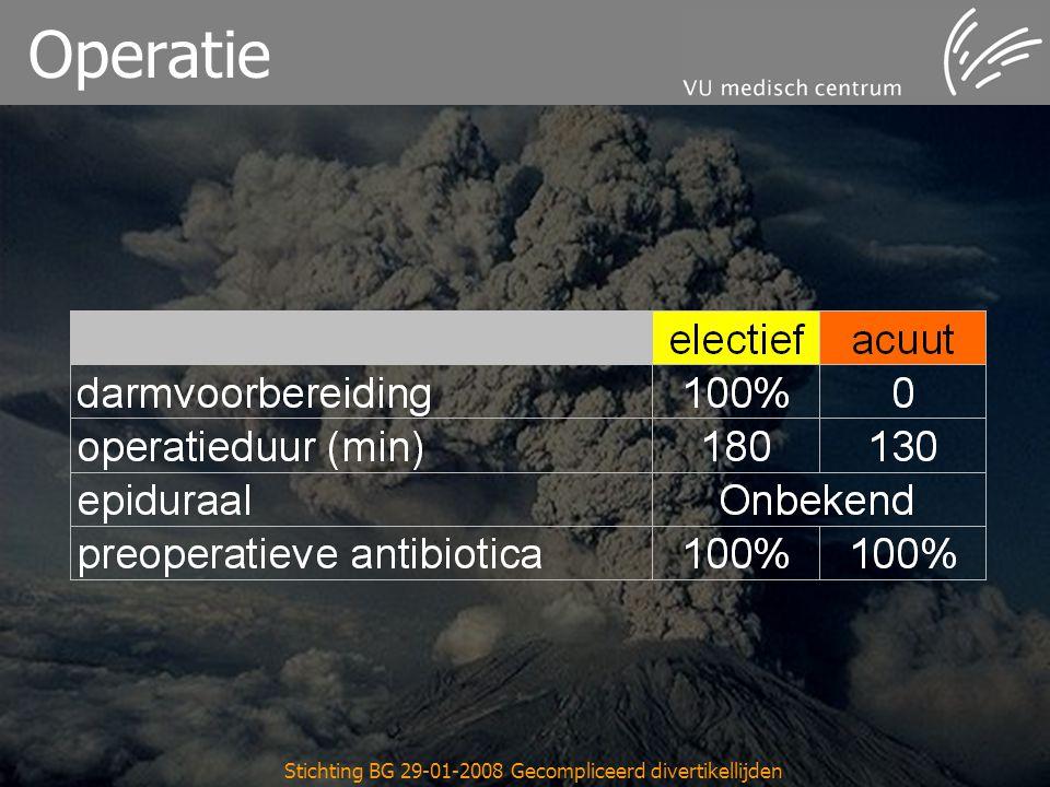Stichting BG 29-01-2008 Gecompliceerd divertikellijden Operatie
